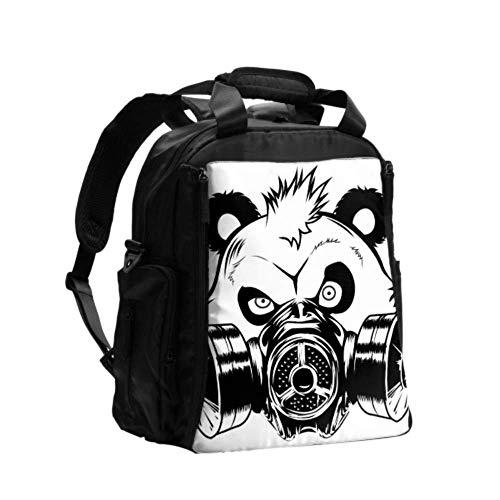 Bolsa de pañales personalizada Bad Panda Máscara de gas Bolsa de pañales lavable Mochila de viaje multifunción con almohadilla para cambiar pañales para el cuidado del bebé