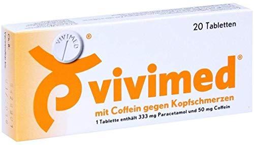 vivimed mit Coffein gegen Kopfschmerzen Tabletten, 20 St. Tabletten