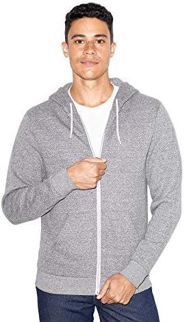 American Apparel Unisex Peppered Fleece Long Sleeve Zip Hoodie Peppered Grey 2X Large product image