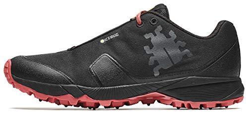 Icebug Men's Pytho4 M BUGrip Trail Running Shoe, Black/Ruby, 12