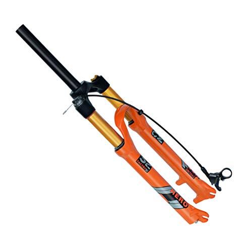 Forcella di sospensione MTB,1-1/8'Forchetta ad aria in lega di magnesio leggera da 1-1/8' Axis 9x100mmqr Release rapido,RL/Straight-29inch