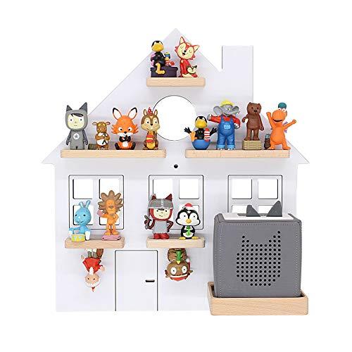 BOARTI Kinder Regal Haus small in Weiß geeignet für die Toniebox und ca. 25 Tonies - zum Spielen und Sammeln