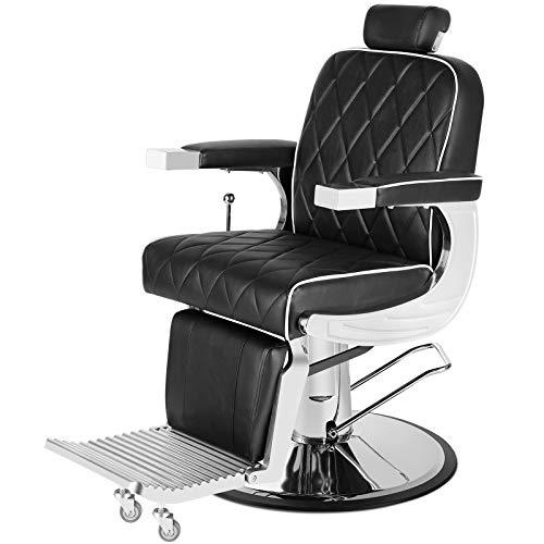 Artist Hand Heavy Duty Vintage Barber Chair All Purpose Hydraulic Recline Salon Beauty Spa Styling Equipment Black