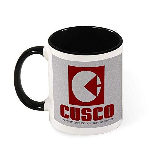 N\A Cusco Logo Regreso al Futuro Taza de café de cerámica Taza de té, Regalo para Mujeres, niñas, Esposa, mamá, Abuela, 11 oz