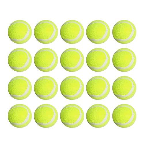 Opknoping hanger, 20 stuks rubberen tufsteen ballen hond puppy tennisbal voor kleine honden huisdieren training…