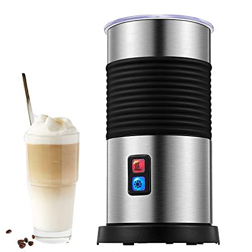 Montalatte Elettrico Automatico, 550W 240ml 4 Modalità Schiuma di Latte Calda e Fredda, Riscaldare il Latte, Cappuccino, Latte, Mocha Macchiato