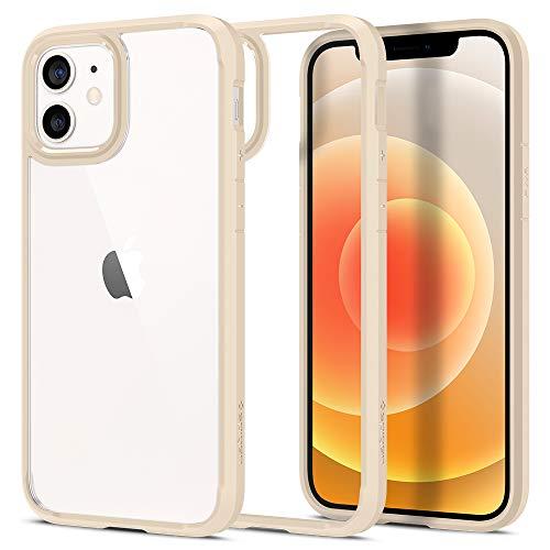 Spigen Cover Ultra Hybrid Compatibile con iPhone 12 Compatibile con iPhone 12 PRO - Sand Beige