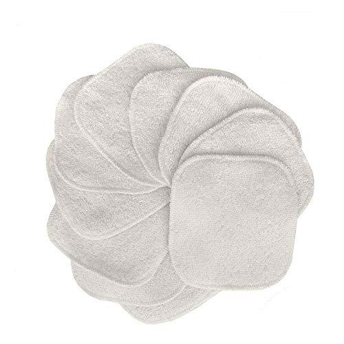 Tampons Démaquillants En Bambou (Paquet De 10), Tampons En Coton Biologique Réutilisables Avec Sac À Lessive, Nettoyage Lavable Du Visage (10PC)
