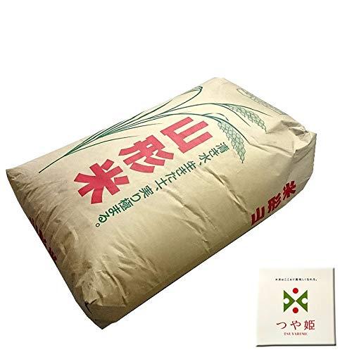 山形県産 つや姫 令和元年度産 (玄米 30kg(30kg×1袋), 無洗米に精米後 27kg)