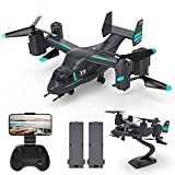 HR LM19 Drone with 1080p Camera,RC Quadcopter Helicopter for Kids and Adults,2 in 1 Remote...