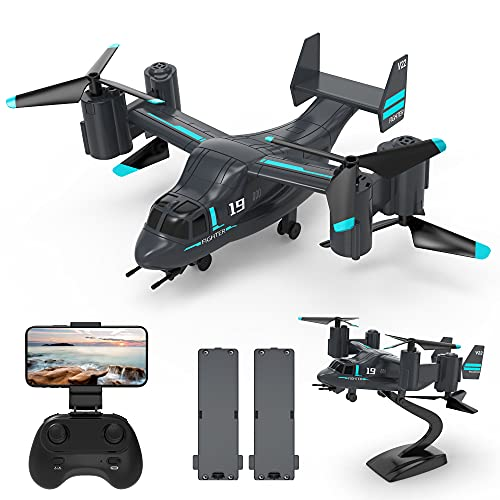 LMRC LM19 Drone Remote Control Airplane with HD Camera for Adults and Kids, Easy & Ready to Fly, 2 Modular Batteries, RC Quadcopter Drones, Great Gift Toy for Adults or Advanced Kids, WiFi Live Video