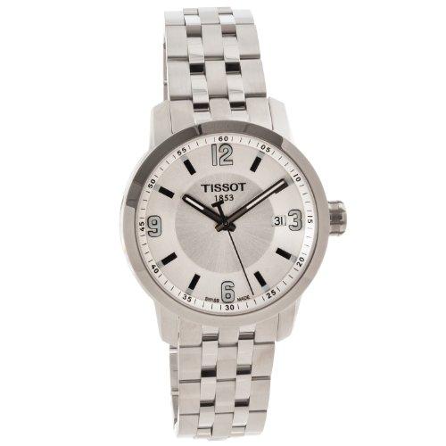 Tissot PRC 200 plata cuarzo deporte reloj #T055.410.11.037.00