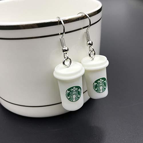 Chanety,wasserbecher,wasserbecher fiir wasserfarbe 2020 neue mode frauen mode kreative simulation kaffee milch teetasse ohrringe für koreanische frauen ohrringe schmuck großhandel wasserbecher mit dec
