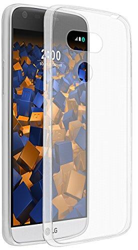 mumbi Hülle kompatibel mit LG G5 Handy Case Handyhülle dünn, transparent weiss