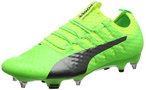 Puma Herren EvoPower Vigor 1 Mx SG Fußballschuhe, Grün (Green Gecko Black-Safety Yellow 01), 40 EU