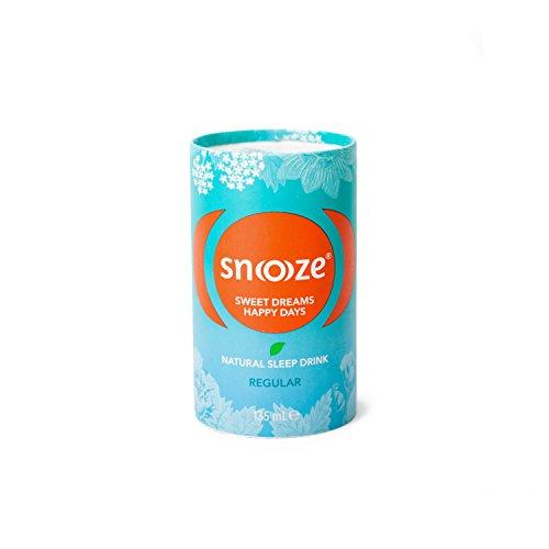 Snoooze ® - Das Natürliche Schlafgetränk auf Kräuterbasis - Wirksamer Schlaf tee mit Baldrian, Passionsblume, Lindenblüte, Kalifornischer Mohn - 8 x 135ml - Regular - Made in Austria
