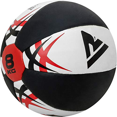 RDX Medicine Ball Gym Abs Exercises Leather Weighted Med Ball for...