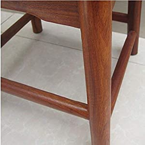 WLG Household Step Stool  Photography Folding Step Stool Stool Square Solid Wood Bench Sofa Footstool Shoe Bench Child Adult Living Room Bathroom Kitchen B