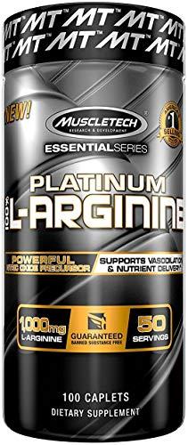 L-Arginine Pills   MuscleTech L Arginine 1000mg Capsules   Nitric Oxide Supplement   Supports Superior Vasodilation & Nutrient Delivery   Nitric Oxide Pills for Men   100 Capsules