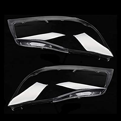 ECCPP Headlight Lens Cover Fits for 2005-2011 BMW 325i;2007-2012 BMW 335i Left and Right Side Car Headlight Headlamp Lense Clear Lens Cover, Pack of 2