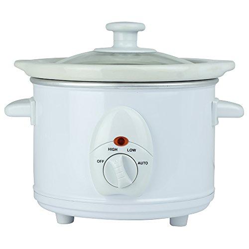 Status AUSTIN1PKB4 Austin Round Slow Cooker, 120 W, 1.5 liters, White