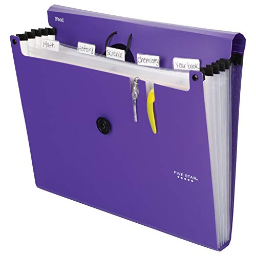 Five Star 6-Pocket Expanding File Organizer, Plastic Expandable Letter Size File Folders with Pockets, Home Office Supplies, Portable Paper Organizer for Receipts, Bills, Documents, Purple (72510) Photo #6