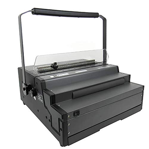 TruBind Spiral Coil Punch & Binding Machine - 4:1 Pitch Oval Holes - Manual Punch & Electric Coil Inserter - 25 Page Punch Capacity - Heavy Duty