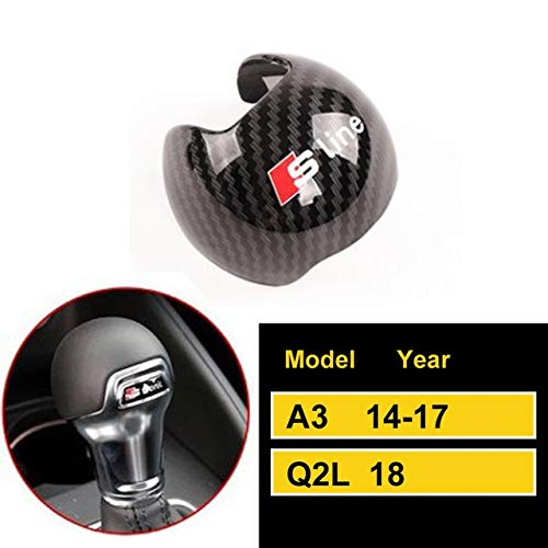 Byrhgood Auto-Carbon-Faser-Gangschaltung-Kragen-Knopf-Abdeckung for Audi A3 / A4L / A5 / A6L / A7 / Q2L / Q5 / Q7 / Q5L / S6 / S7 Auto Gear Head Zierabdeckung (Color : D)