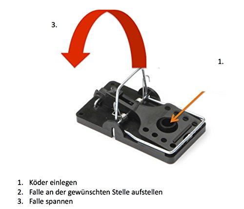 Köder-Discount: 3 x Professionelle Rattenschlagfallen - Rattenfalle ohne Rattengift - 4