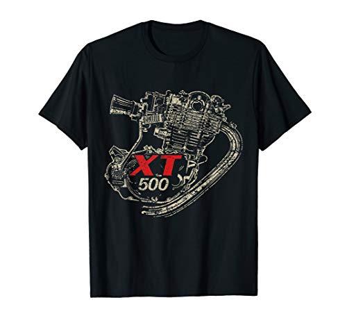 XT 500 Motor Retro Distressed Design T-Shirt