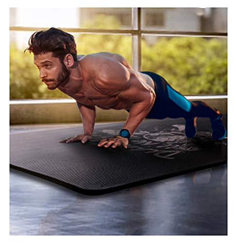 Esterilla de yoga para hombres, 185 x 80 cm, alfombrilla de fitness, colchoneta de yoga en 3D, cojín de asiento antideslizante, pilates
