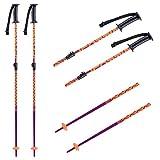 K2 Ski Sprout 10E3021 - Bastones de esquí para niña (75-105 cm), Color Morado