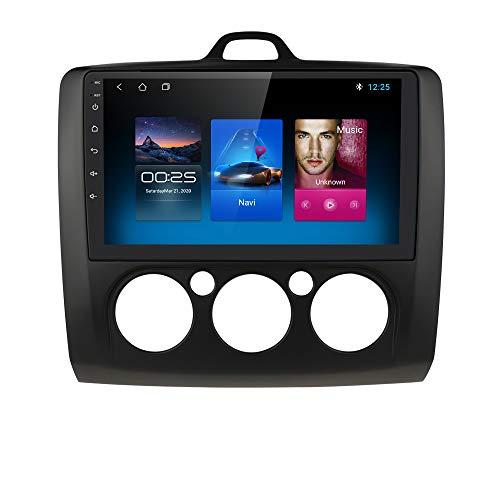 9 Pollici Android 10 Navigazione per Autoradio Stereo Supporto Bluetooth WiFi MirrorLink Adatto per Ford Focus Exi MT 2 3 MK2 / MK3 2004 2005 2006 2007 2008 2009 2010 2011 (Nero)