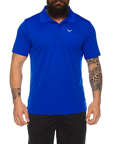 Raff & Taff Polo Shirt Fitness Shirt hochwertiges Atmungaktives Funktionsshirt T-Shirt Freizeit Shirt (Royalblau, 6XL)