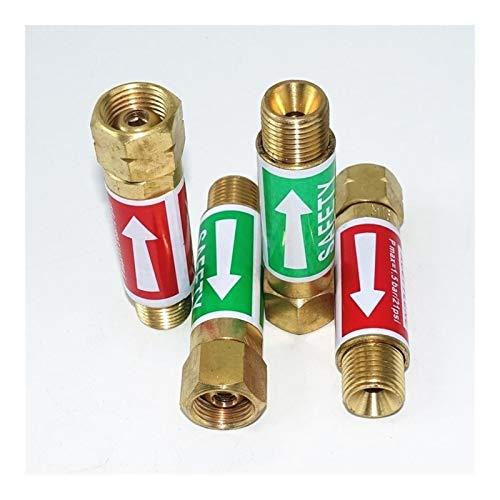 BAIJIAXIUSHANG-TIES Válvulas, Accesorios Válvula de retención Flashback parallamas Buster 9/16 3/8 Pulgadas M16 for Acetileno Gas Propano Lanzador de Llamas Pistola de Soldadura soplete Cortador