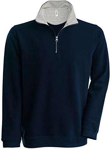 Kariban - Sweat-Shirt - - Uni - Manches Longues Homme - Bleu - Navy/Heather - X-Large