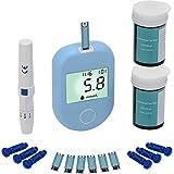 Azúcar en la Sangre Tester, medidor de glucosa en Sangre Meter, Testing Kit Diabetes 50 Azúcar Tester Blood Strips con 1 Dispositivo de punción, mmol /