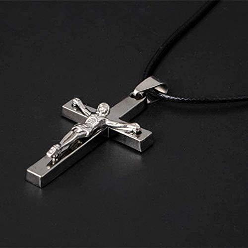 FACAIBA Collar Collar Joyas de Color Plateado Cruz Antigua Crucifijo Cruz de Jesús Collares Pendientes para Mujeres Hombres