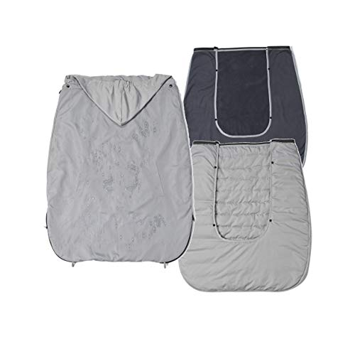 Mini miliya Babywearing 3 In 1:Waterproof Baby Carrier Cover with Fleece Lining and Silk Down Cotton Lining (Light Grey)
