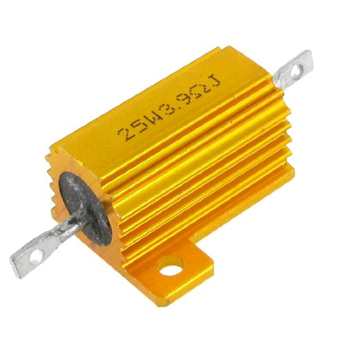 uxcell a12040600ux0286 Chassis Mounted Aluminum Housed 25W 3.9 Ohm 5% Wirewound Resistors