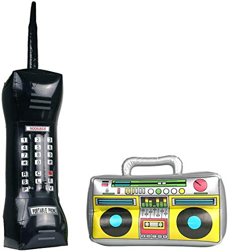 Giant Inflatable 80s Mobile Phone and Inflatable Boombox. Ideal for a breakdancing YUPPIE.
