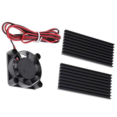 B Blesiya Ventilador de Refrigeración de CPU Ultra Silencioso + Tira de Enfriador Adhesivo de Tarjeta Gráfica 2 Piezas