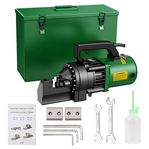 Anbull 1350W Electric RebarCutter, Cutting up to 7/8 Inch 4-22mm #7 Rebar, with Replaceable Jaw Blades, Cutting Speed 3.5-4S (1350W RC-22)