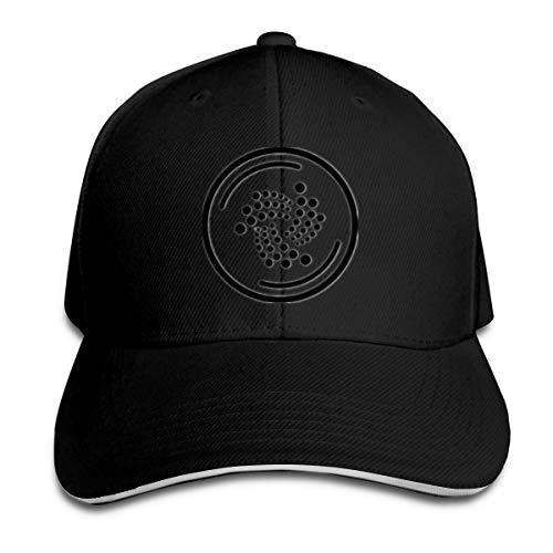 Iota Miota LogoCryptocurrency Cap Outdoor Ball Brim de algodón Snapback Sombrero Blanco Ajustable para Hombres y Mujeres Azul