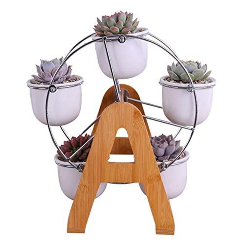 Bloemstandaard Wming shop Reuzenrad Combinatiepakketten Zuiggroene plantenstandaard Bonsai Display Plank keramische wastafel 4.2