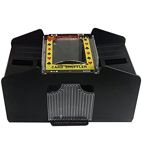 Ocobetom Mezclador de tarjetas eléctrico como mezclador de tarjetas, funciona con pilas...
