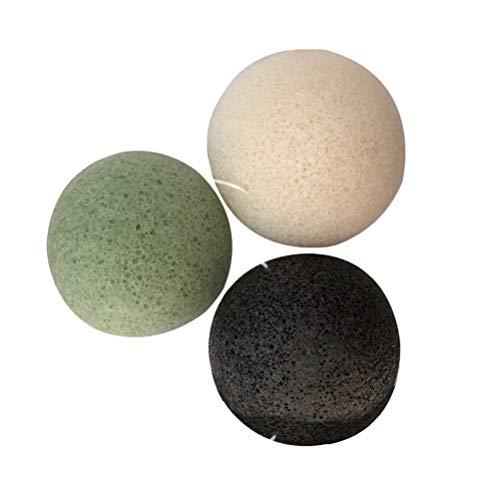 Lurrose 3pcs esponjas de Konjac, esponjas de la limpieza de