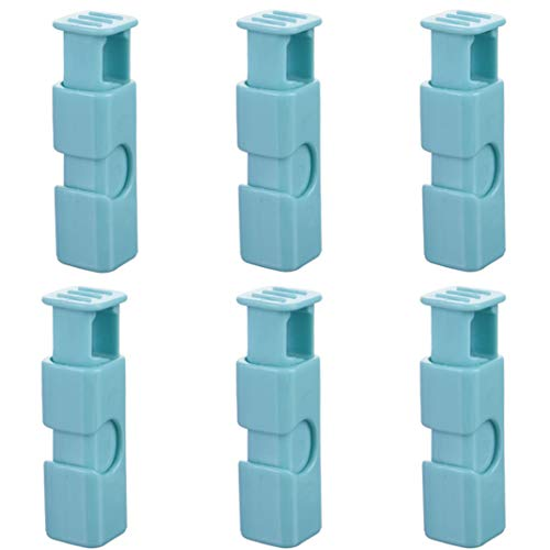 Food clips plastic bag clips chip clips bag Used for bread, rice, nuts, beans, dried fruit, frozen foods bag and more (plastic bag clips 6pack Light blue)
