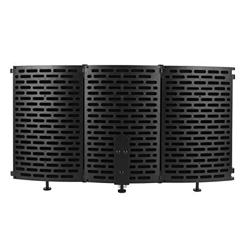 Akustischer Schallschutz, Mikrofonisolationsschild Isolationsschild Windschutzscheibe, 3 Schichten für Microphone Office Live Streaming Studio