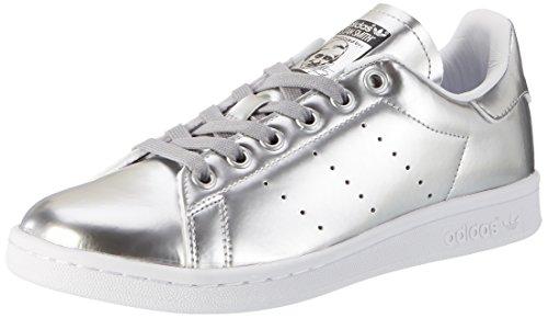 adidas Damen Stan Smith Sneaker, Silber Silver Metallic Silver Metallic Footwear White, 38 EU